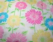 """Lilly Pulitzer fabric """"WHITE CABANA FLORAL"""" , 100% cotton,  18 in x 18 in"""