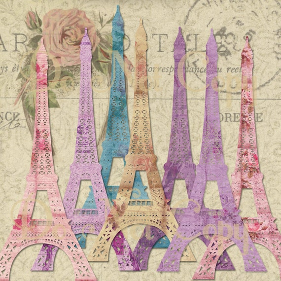 Items similar to instant download paris shabby french - Scrapbooking paris boutique ...