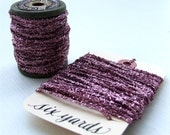 Mauve Pink Tinsel String, 6 Yards Metallic Tinsel Twine for wrapping, crafting, holiday decor