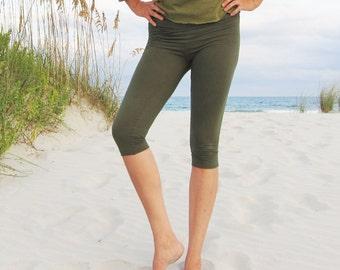 ORGANIC Simplicity Below Knee Leggings - ( light hemp lycra) - Hemp Leggings  :