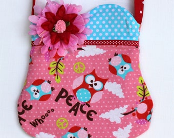Peace Owl Purse-Ready to ship