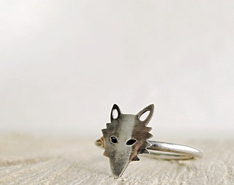 Fox ring, Sterling Silver, Woodland Animal, Nature inspired jewelry