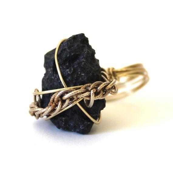 Meteorite Ring that Rocks size 8.5