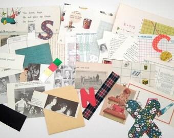 School Ephemera Pack - Vintage Ephemera Lot - Altered Art Journal Kit - Mixed Media - Assemblage - Student Teacher