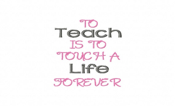 Teacher quotes embroidery machine design patterns digital
