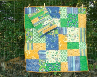 Shuffle Quilt and Pillow Pattern baby size