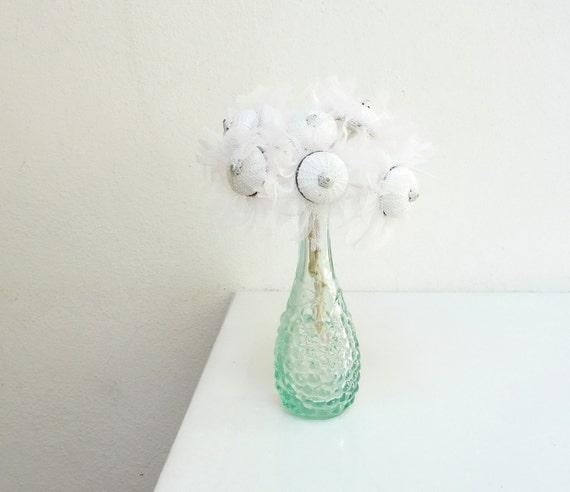 White Sea Urchin Flowers (6pcs)