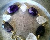 Amethyst Quartz Crystal Bracelet