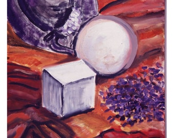 Opening Up, An Original Oil Still Life Painting 30 by 26 inches