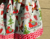 New Ready to Ship Christmas skirts in sizes 2,4,5,6,10, or 12