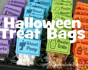 Halloween Treat Bag Topper Label - Digital files