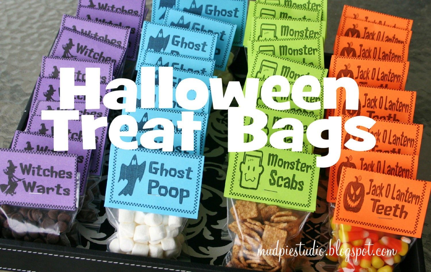 zoom - Pinterest Halloween Treat Bags