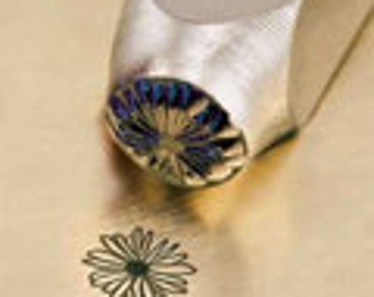 Daisy Metal Stamp ImpressArt Design Stamp 6mm Jewelry Steel Punch Flower Stamp