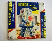 retro robot double switch plate 1950's sci fi vintage tin toy outer space decor kitsch switch cover