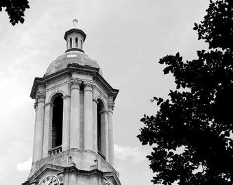 Penn State Photography Old Main Graduation Campus Photo Black and White Limited Edition of 25 Fine Art Photography Prints - Old Main 2