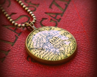 Pittsburgh Map Necklace
