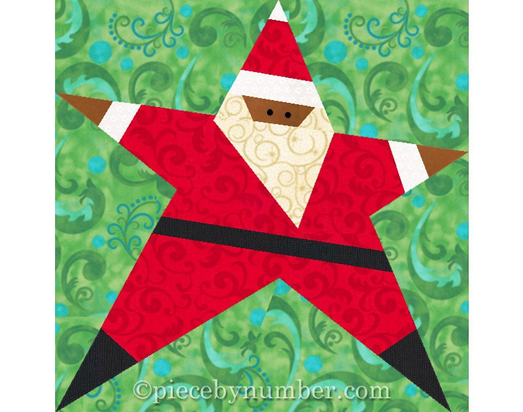 Santa Quilt Pattern Paper Piecing Quilt Patterns Christmas