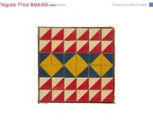 CIJ Sale - Geometric Blocks - Vintage Color Cubes by The Embossing Company - Set of 36 Wooden Blocks