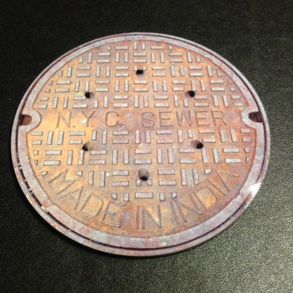 Manhole covers coasters new york city by vernakular on etsy