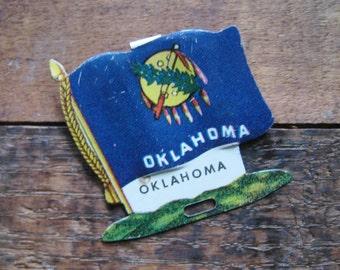 Vintage Oklahoma State Flag Metal Clip - Money Clip, Shirt Clip - USA, United States, America