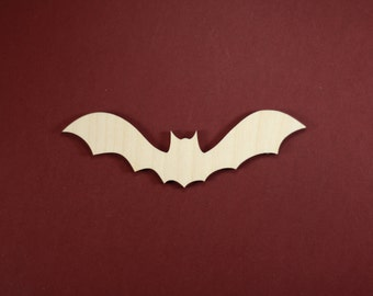 Bat Shape Unfinished Wood Laser Cut Shapes Crafts Variety of Sizes