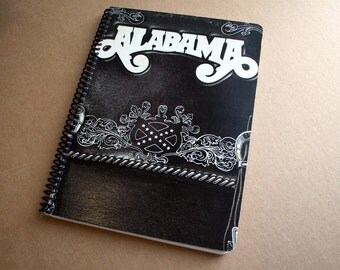 Alabama  Record Album Blank Notebook- Upcycled Journal, Sketch book