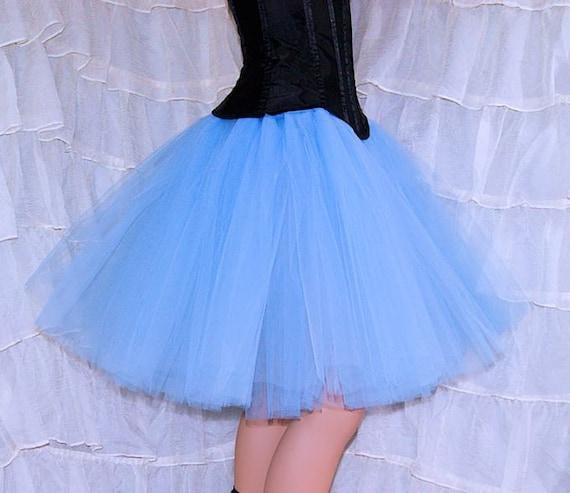 baby pastel blue knee length tutu skirt all