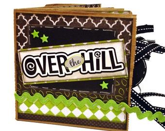 Birthday Scrapbook - Over the Hill Paper Bag Mini Album