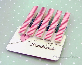 CLOTHESPINS - Washi Striped