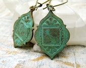 Bohemian earrings Moroccan Ethnic earrings patina dangle earrings boho Bohemian Jewelry  Magazine Featured - Gypsymoondesigns