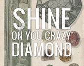 Shine On You Crazy Diamond- Beautifully textured cotton canvas art print. Order as an 8x10 11x14 or 16x20 size.