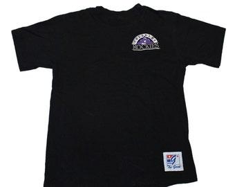 Vintage 1990s 90s Colorado Rockies Embroidered Baseball Shirt Made in USA Mens Size Medium