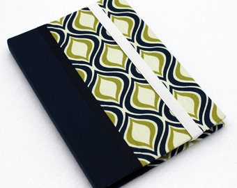 Kindle Fire HDX Case, Kindle Fire HD Cover, Hardcover Nexus 7 Case, Samsung Galaxy, Nook Tablet HD Cover, Spiral Green, Blue, Personalized