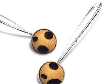 Leopard Earrings in Argentium Sterling silver