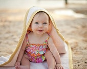 Reserved for Karolina; DESIGN YOUR OWN Organic Hooded Baby Towel, Made to Order; Custom Toddler Size