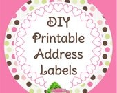DIY Printable Address Label