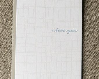 Letterpress Greeting Card - I love you