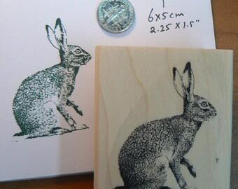 Rabbit rubber stamp WM P16