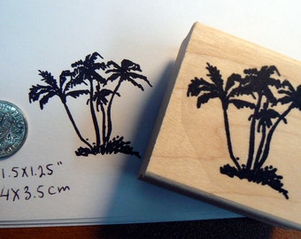 Small palm tree rubber stamp