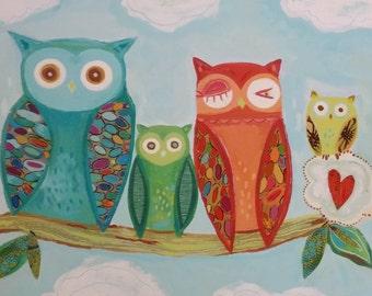 Owl Family NEW DESIGN  2014