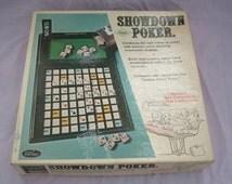 Vintage game showdown poker