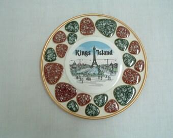 Vintage rare Kings Island collectible plate