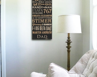 Custom Typography graphic word art on gallery wrapped canvas by stephen fowler geministudio