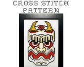 DIY Ceremonial Mask (version 3) - .pdf Original Cross Stitch Pattern - Instant Download