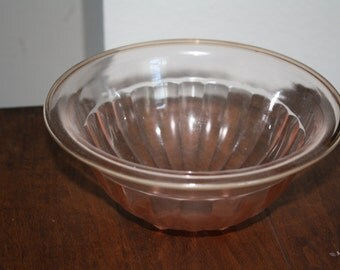 Federal Glass Company PINK Footed Bowl