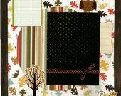 12x12 Premade Scrapbook Page - I Love Fall