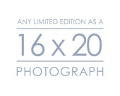 Any Limited Edition Landscape Photograph as a 16x20 inch Print - Custom size great for the bedroom, living room, and dining room