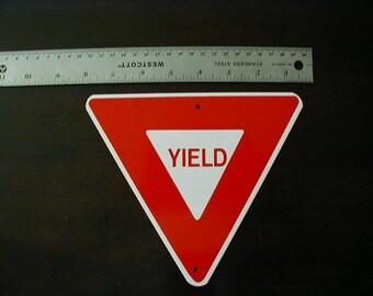 Aluminum Mini YIELD  Traffic Sign