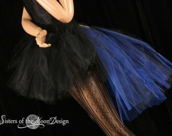 Adult tutu skirt Bustle back streamer vampire goth halloween costume gothic dance royal black  --You Choose Size -- Sisters of the Moon