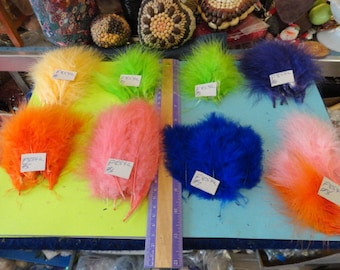 Choose your Fluffy Marabou Feathers 10 pcs.  F 854a